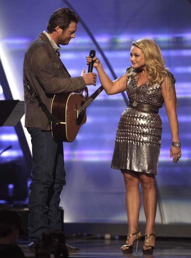 Young country newlyweds Miranda Lambert and Blake Shelton