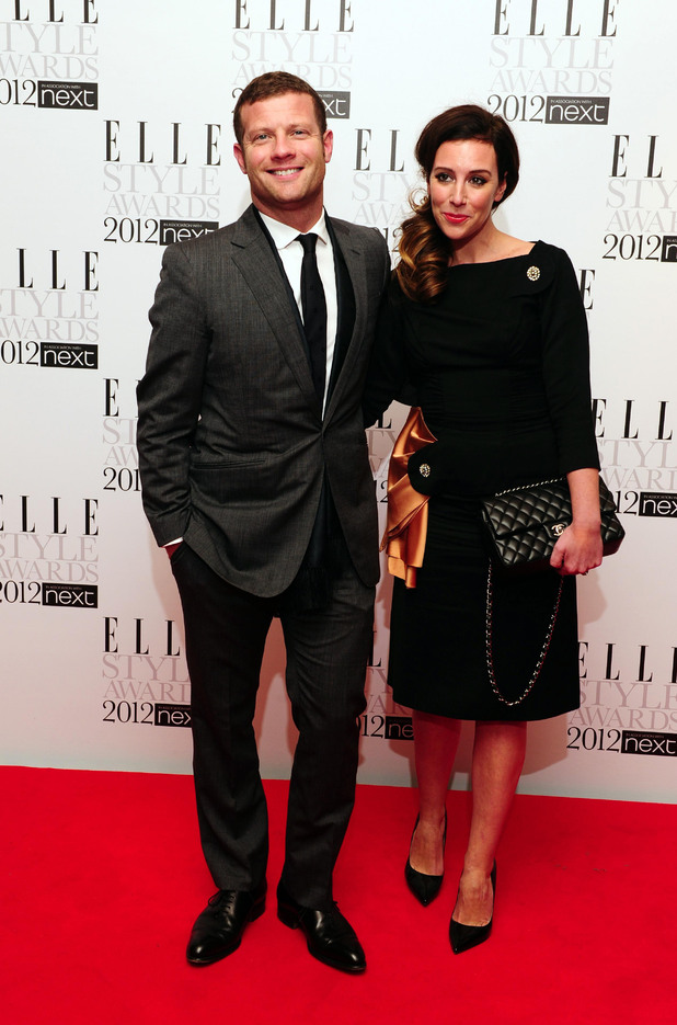 Dermot O'Leary and fiancee Dee Koppang