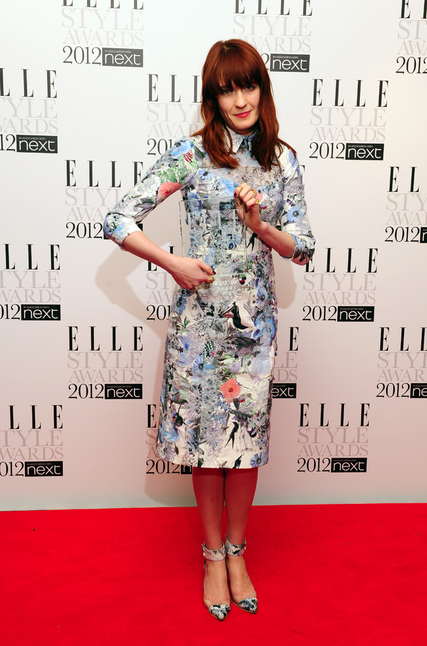 The 2012 Elle Style Awards: Florence Welch with her award for Best Music Act