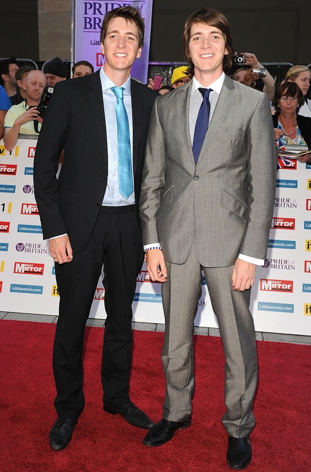 James and Oliver Phelps - The Harry Potter twins celebrate their ...
