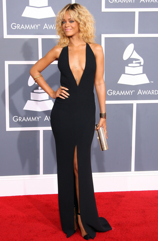 Rihanna 54th Annual GRAMMY Awards (The Grammys) - 2012 Arrivals held at the Staples Center Los Angeles