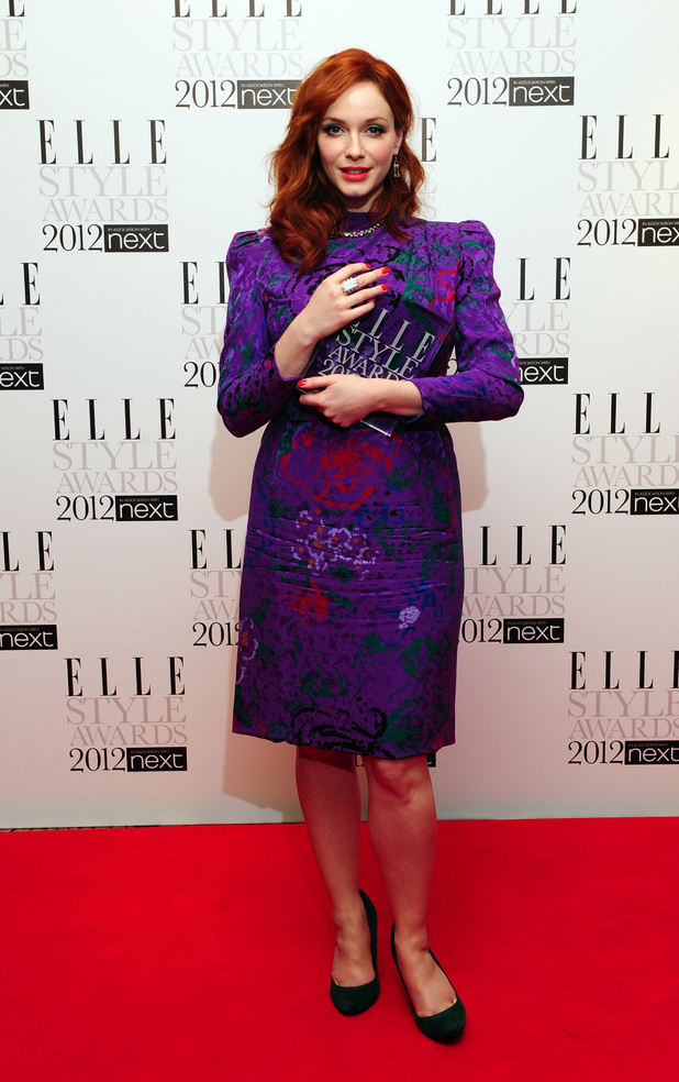 The 2012 Elle Style Awards: Christina Hendricks with her award for Best TV Star