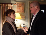 Paddy is suspicious when Rhona books dinner for them. He waits at the B&B for Rhona who arrives late, and when she arrives, Paddy is drunk, leaving Rhona mortified of his behaviour