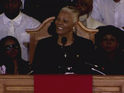 "Whitney Houston's famous cousin Dionne Warwick says that she was ""so happy""."