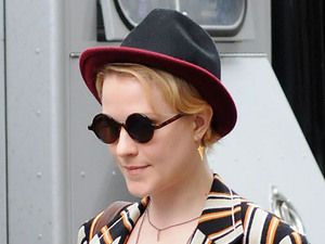 Evan Rachel Wood filming on location in Manhattan for the movie 'A Case of You'. New York City, USA - 21.02.12 Mandatory Credit: Ivan Nikolov/WENN.com