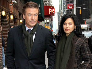 Alec Baldwin and Girlfriend Hilaria Thomas Celebrities arrive at The Ed Sullivan Theatre for 'The Late Show with David Letterman' New York City, USA - 21.02.12 Mandatory Credit: HRC/ WENN.com