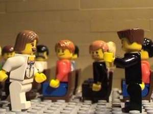 Lego fan recreates iconic movie moments