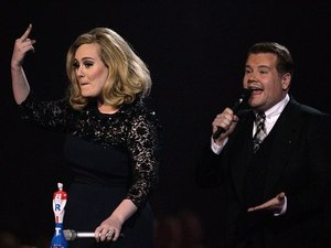 Adele, James Corden, Brit Awards