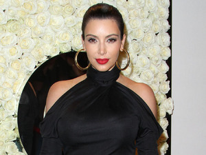 Kim Kardashian QVC presents The Buzz red carpet cocktail party held at The Four Seasons Hotel - Arrivals Los Angeles, California - 23.02.12