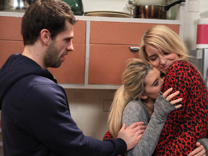 Debbie is ecstatic when she receives news that the baby is a match. She hugs Charity as Andy looks on