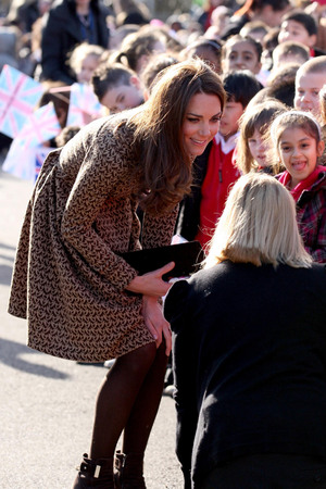 Kate Middleton, The Duchess of Cambridge at Rose Hill Primary School in Oxford