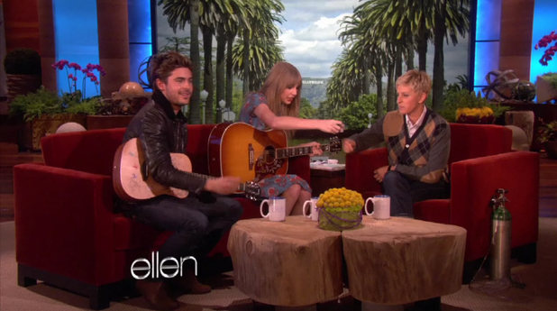 Taylor Swift and Zac Efron duet on Ellen
