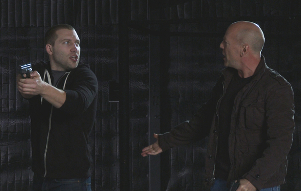 Jai Courtney in Die Hard 5 screen test alongside Bruce Willis