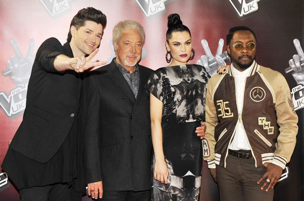 The Voice coaches Danny O'Donoghue, Tom Jones, Jessie j and will.i.am
