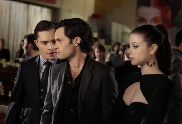 Chuck Bass, Dan Humphrey and Georgina Sparks