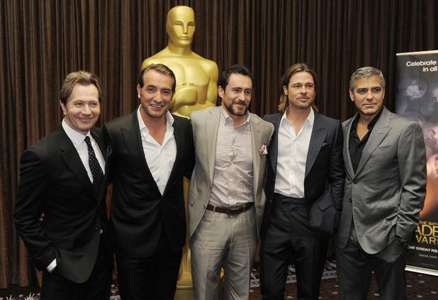 Gary Oldman, Jean Dujardin, Demian Bichir, Brad Pitt, George Clooney, Oscars