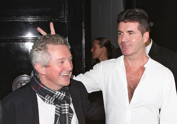 Simon Cowell looking worse for wear, leaving the Arts Club at 3am with Louis Walsh London, England - 24.02.12