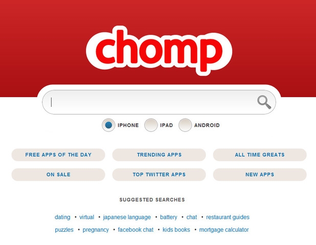 Chomp screenshot