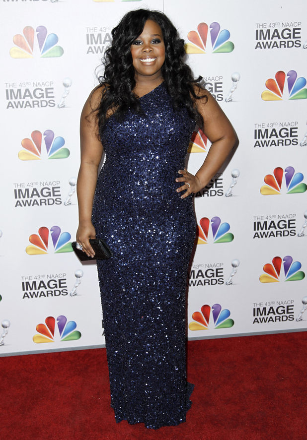 Amber Riley arrives at the 43rd NAACP Image Awards