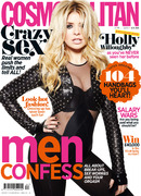 Holly Willoughby poses for Cosmopolitan UK
