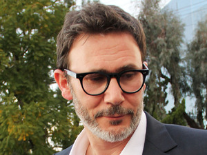 "Director Michel Hazanavicius the day after the Oscars, the director of ""The Artist"" arrives for a TV interview Burbank, California"