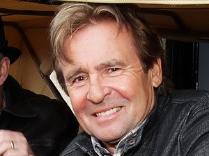 Davy Jones of The Monkees at a photocall with the Monkeymobile at Manchester O2 Apollo Theatre, May 2011