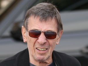 Leonard Nimoy leaving Barneys New York in Beverly Hills Los Angeles, California