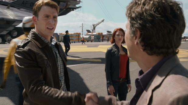 Steve Rogers meets Bruce Banner.