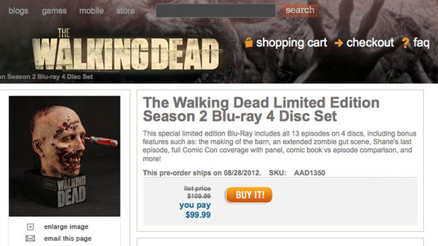 The Walking Dead Blu-Ray Ad screenshot