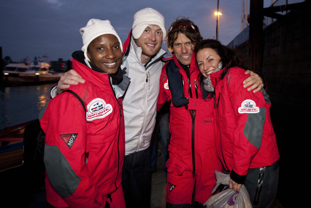 Denise Lewis, Andrew Flintoff, John Bishop and Davina McCall