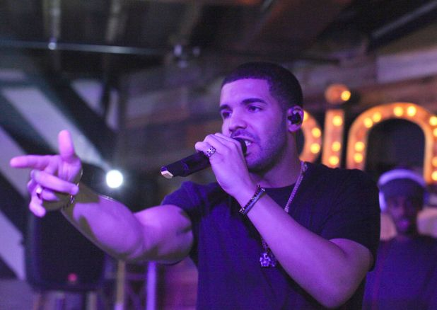 Drake performing live