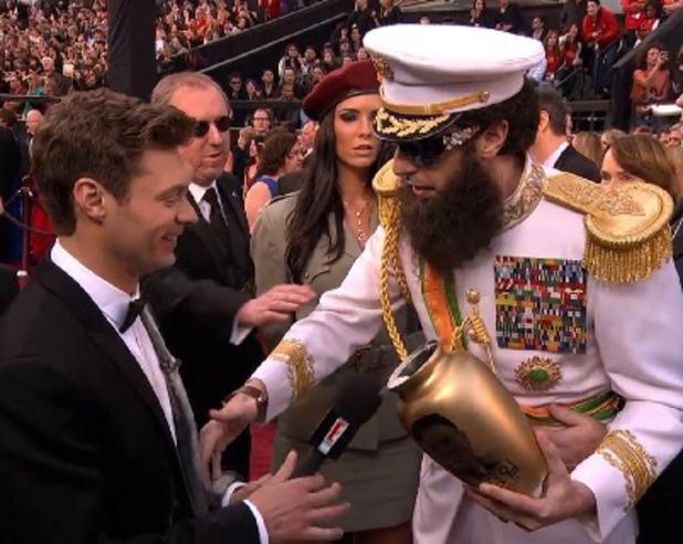 Sacha Baron Cohen, Ryan Seacrest, Oscars 2012