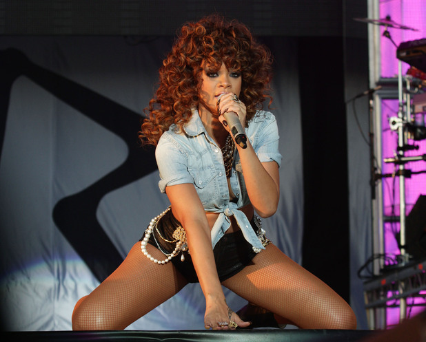 Rihanna performs at V Festival 2011