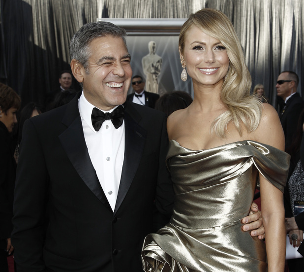George Clooney, Stacy Keibler, Oscars 2012