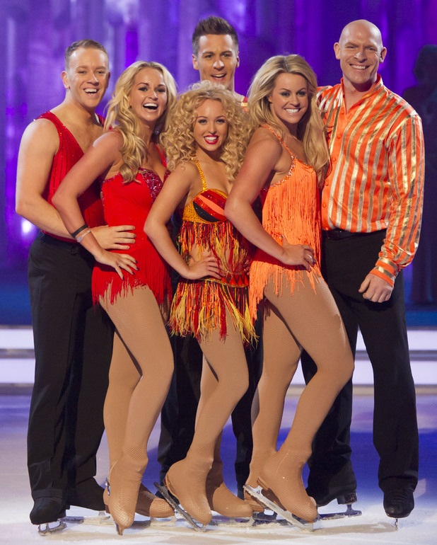 Team Jorgie: Jorgie Porter and Matt Evers, Jennifer Ellison and Daniel Whiston, Chemmy Alcott and Sean Rice.