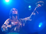 Ian Brown performing at Glastonbury