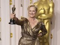 "Iron Lady star salutes ""old friends [and] new friends"" at 84th Academy Awards."