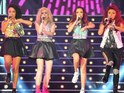 Kitty Brucknell, Little Mix, Amelia Lily and Marcus Collins launch the X Factor tour.