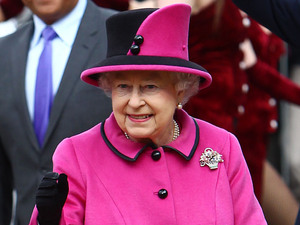 Queen Elizabeth II at De Montfort University during a visit to Leicester for the Queen's Diamond Jubilee Leicester