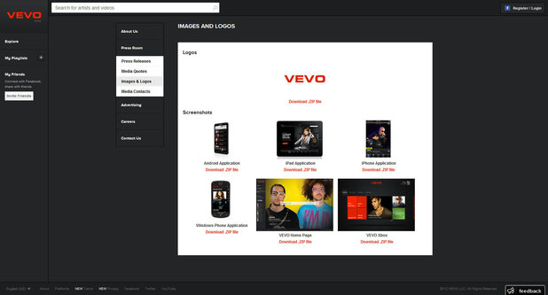 VEVO screenshot