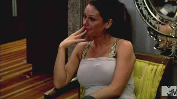 Jenni 'JWoww' Farley MTV's 'Jersey Shore' Season 5, Episode 10 One Meatball Stands Alone: A huge fight breaks out after Mike tells Jionni he hooked up with Snooki; Deena faces a difficult truth about Joey; some of the roommates go camping while Pauly and Vinny pull off a big prank