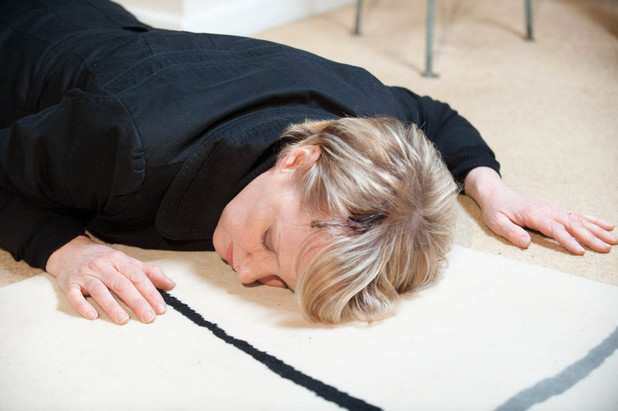 Sally Webster (Sally Dynevor) unconscious