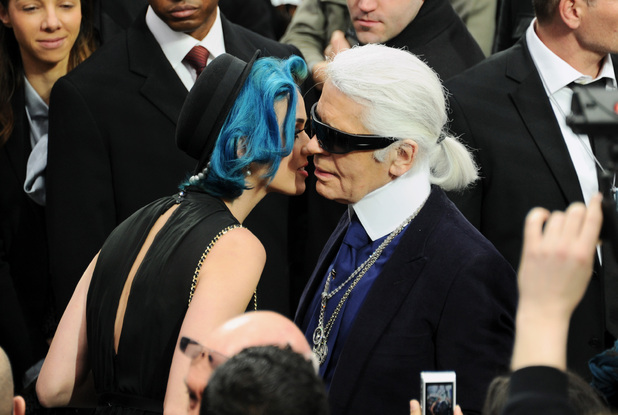 Katy Perry and Karl Lagerfeld