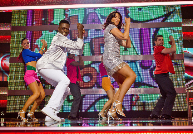 Suzi Perry and Ortis Deley perform to Ricky Martin 'Livin' La Vida Loca'.