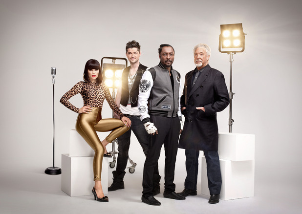 Jessie J, Danny O'Donoghue, Will.i.am, Tom Jones