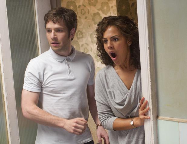 Hal (Damien Molony), Annie (Lenora Crichlow)