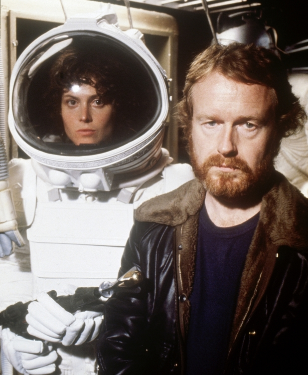 Director Ridley Scott with star Sigourney Weaver