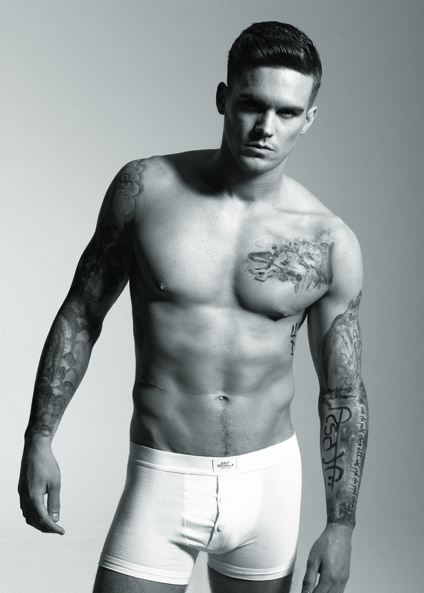 Geordie Shore's Gaz in Reveal Magazine