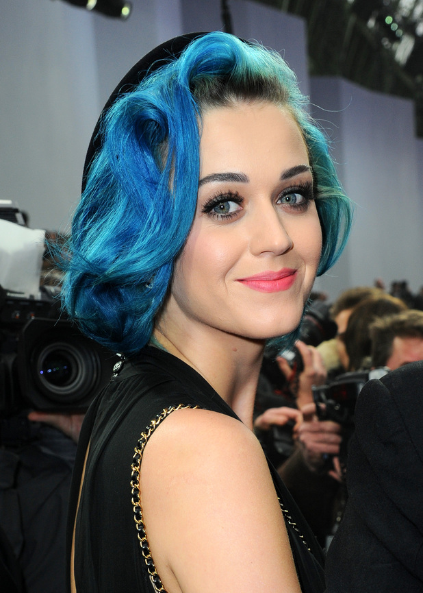Katy Perry at Paris Fashion Week 2012