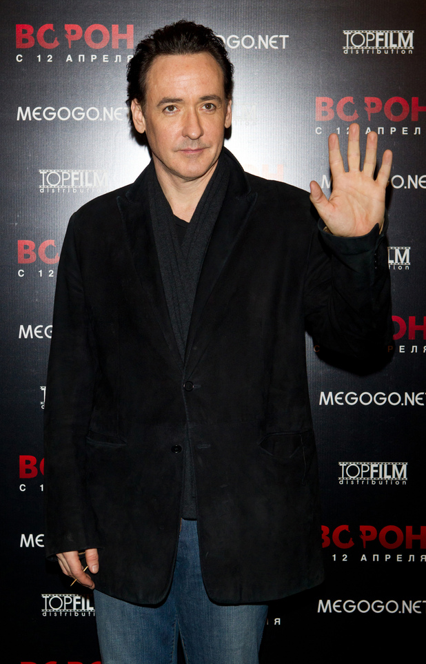 John Cusack attends a press conference for his movie 'The Raven' in Moscow